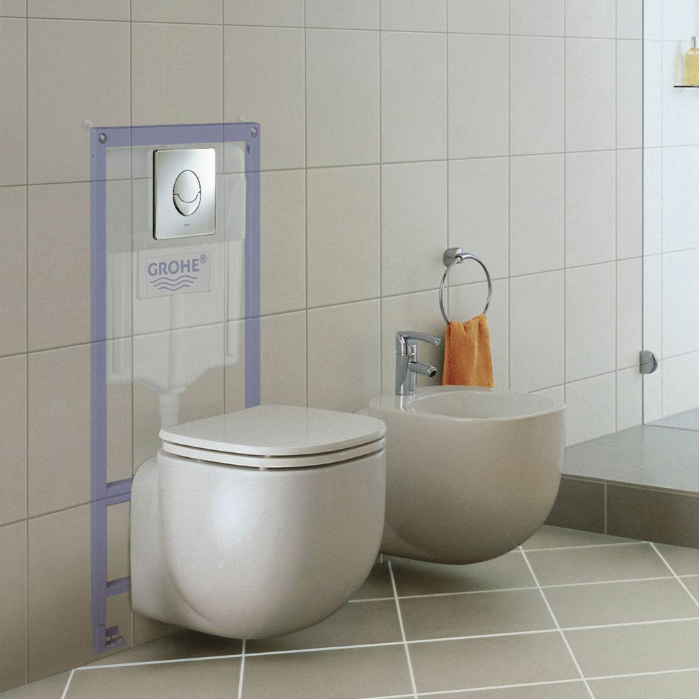 Grohe Rapid SL 1.13m Low Noise 3 in 1 Set Support Frame for Wall Hung WC - 38721001 profile large image view 3