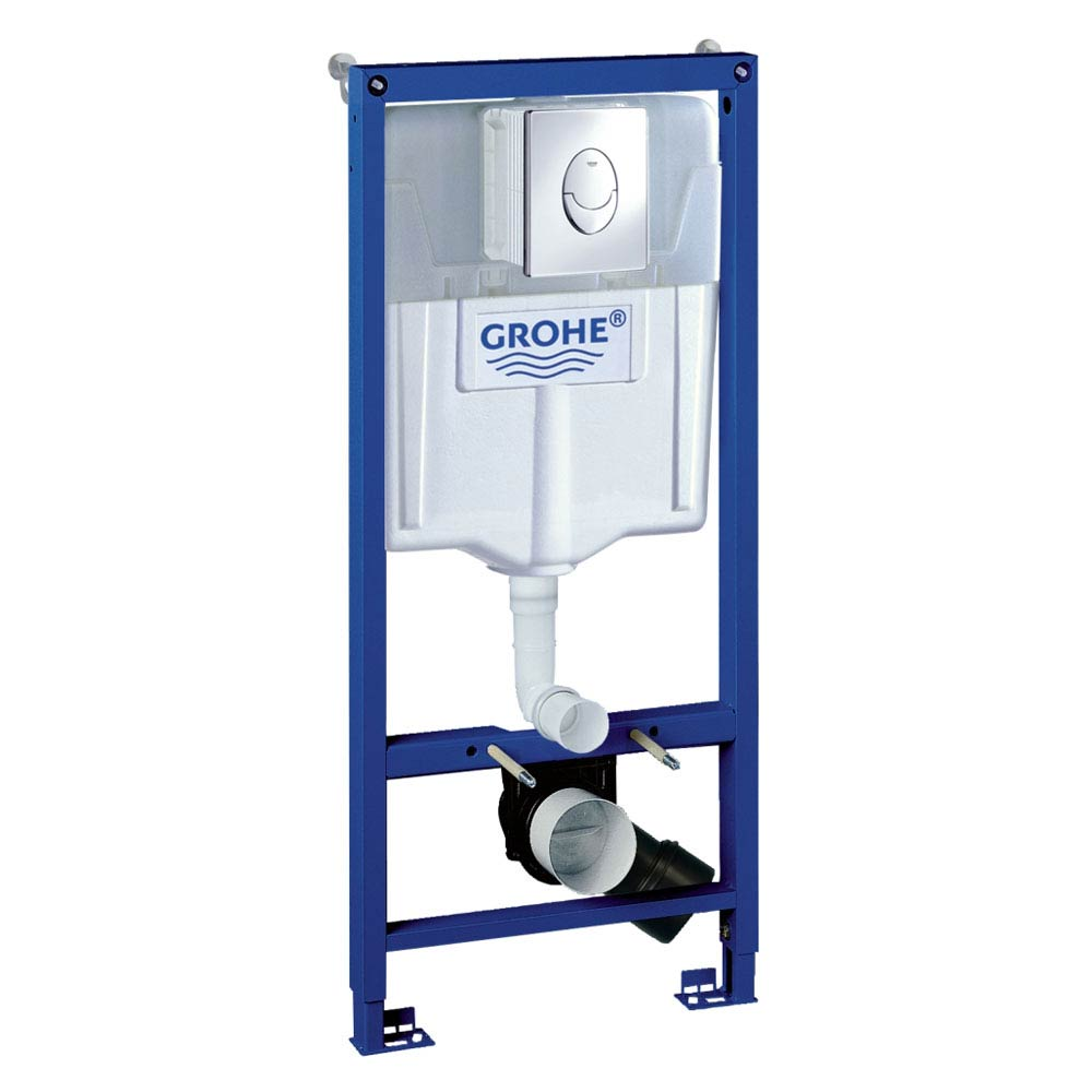 Grohe Rapid SL 1.13m Low Noise 3 in 1 Set Support Frame for Wall Hung WC - 38721001 Large Image