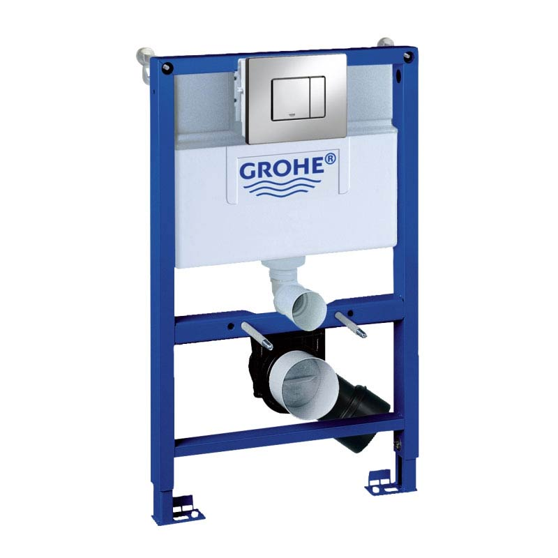 Grohe Rapid SL 0.82m 3 in 1 Set Low Noise Support Frame for Wall Hung WC - 38773000 Large Image