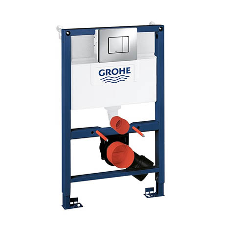 Grohe Rapid SL 0.82m 3 in 1 Set Low Noise Support Frame for Wall Hung WC - 38773000