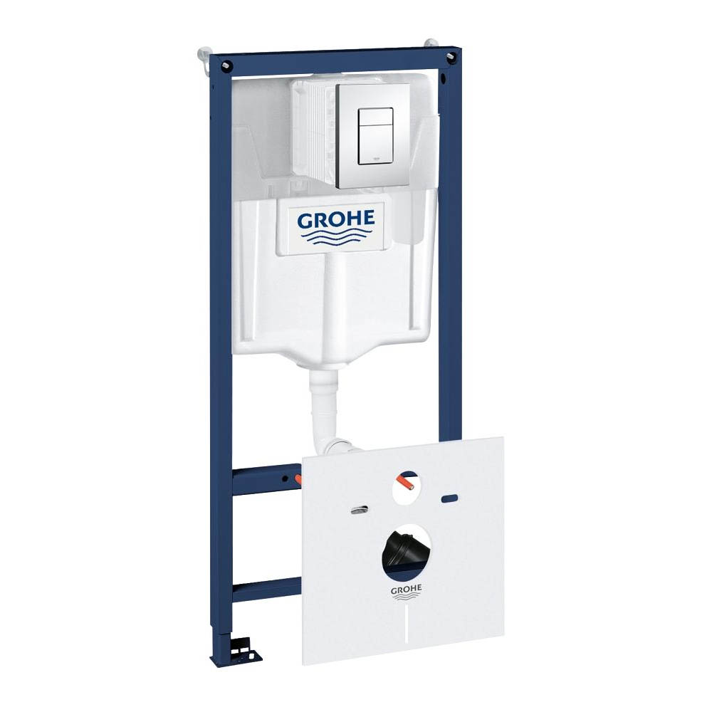 grohe rapid sl fresh 4 in 1 set low noise support frame for wall hung wc 38827000. Black Bedroom Furniture Sets. Home Design Ideas