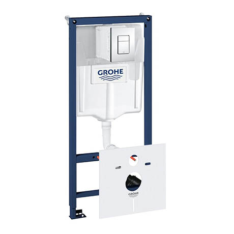 Grohe Rapid SL Fresh 1.13m 4 in 1 Set Low Noise Support Frame for Wall Hung WC - 38827000