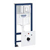 Grohe Rapid SL Fresh 1.13m 4 in 1 Set Low Noise Support Frame for Wall Hung WC - 38827000 profile small image view 1