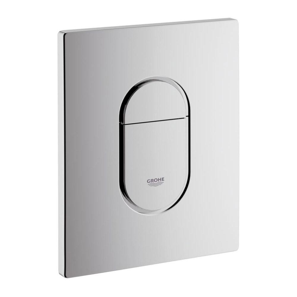 Grohe Arena Cosmopolitan WC Wall Flush Plate - Chrome - 38844000 Large Image