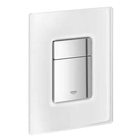 Grohe Skate Cosmopolitan WC Wall Flush Plate - Chrome/daVinci Satin - 38845MF0