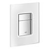 Grohe Skate Cosmopolitan WC Wall Flush Plate - Chrome/daVinci Satin - 38845MF0 profile small image view 1