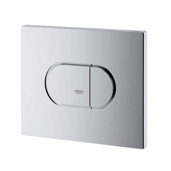 Grohe Arena Cosmopolitan WC Wall Flush Plate - Chrome - 38858000 profile large image view 2