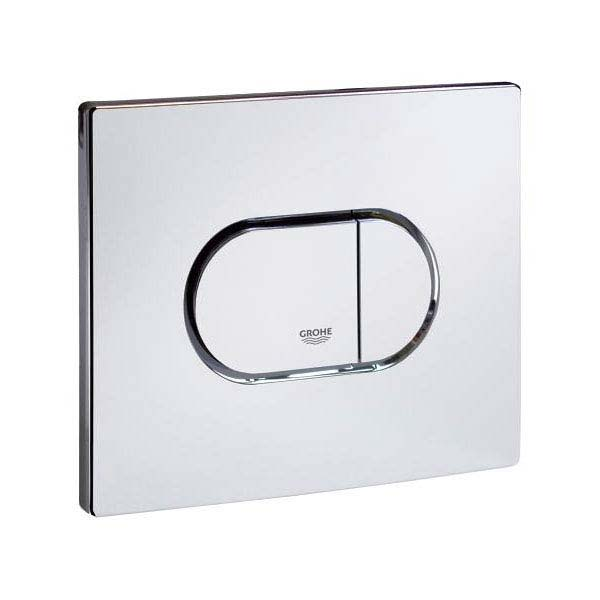Grohe Arena Cosmopolitan WC Wall Flush Plate - Chrome - 38858000 profile large image view 3