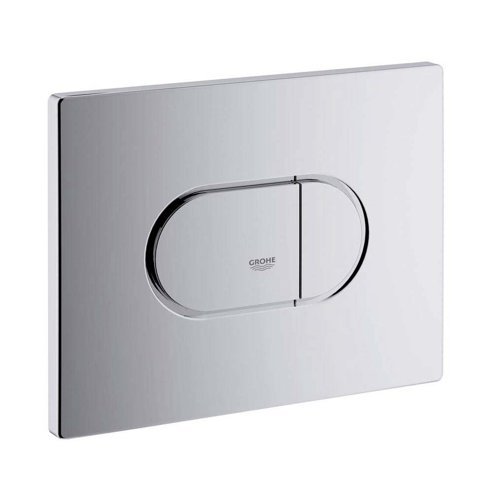 Grohe Arena Cosmopolitan WC Wall Flush Plate - Chrome - 38858000 Large Image