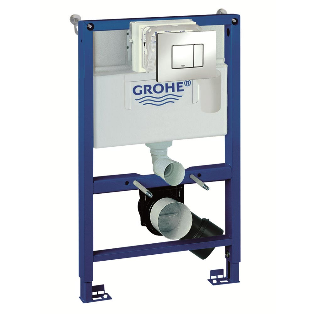 Grohe Rapid SL 0.82m 4 in 1 Set Support Frame for Wall Hung WC - 38885000 Large Image