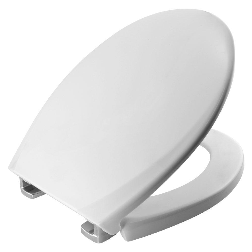Bemis Oxford Toilet Seat with Adjustable Chrome Hinges - 3900CPT000 Large Image