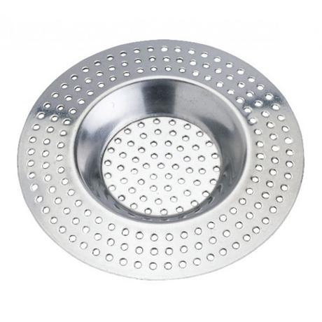 Wenko - Pack of 2 Stainless Steel Bath & Shower Hair Sieve - 3902020100