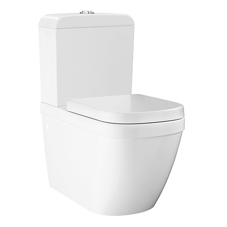 Grohe Euro Rimless Close Coupled Toilet with Soft Close Seat (Side Inlet)