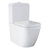 Grohe Euro Rimless Close Coupled Toilet with Soft Close Seat (Side Inlet) profile small image view 1
