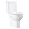 Grohe Bau Rimless Close Coupled Toilet with Soft Close Seat (Side Inlet) profile small image view 1