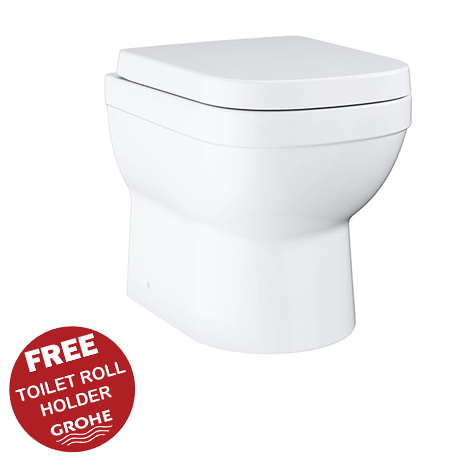 Grohe Euro Ceramic Back to Wall Toilet with Soft Close Seat - 39555000