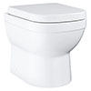 Grohe Euro Ceramic Back to Wall Toilet with Soft Close Seat - 39555000 profile small image view 1
