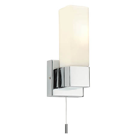 Endon Square Wall Light with Pull Switch - 39627