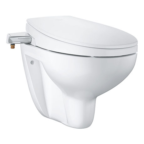Grohe Bau 2-in-1 Manual Bidet Seat & Rimless Wall Hung Toilet - 39651SH0