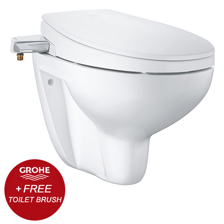 Grohe Bau 2-in-1 Manual Bidet Seat & Rimless Wall Hung Toilet - 39651SH0 + FREE GIFT PROMOTION