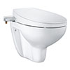 Grohe Bau 2-in-1 Manual Bidet Seat & Rimless Wall Hung Toilet - 39651SH0 profile small image view 1