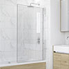 KUDOS Inspire 6mm Single Panel Bath Screen profile small image view 1