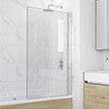 KUDOS Inspire 6mm Single Panel Bath Screen profile small image view 1