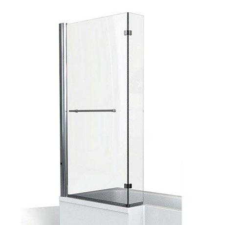 KUDOS Inspire L-Shaped Showerbath Screen with Towel Rail