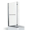 KUDOS Inspire L-Shaped Showerbath Screen with Towel Rail profile small image view 1