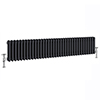 Keswick 300 x 1578mm Cast Iron Style Traditional 3 Column Anthracite Radiator profile small image view 1