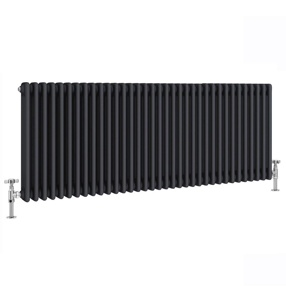 Keswick 600 x 1578mm Cast Iron Style Traditional 3 Column Anthracite Radiator