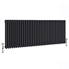 Keswick 600 x 1578mm Cast Iron Style Traditional 3 Column Anthracite Radiator profile small image view 1
