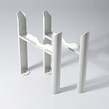 Keswick White 3 Column Radiator Feet Medium Image