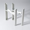 Keswick White 3 Column Radiator Feet profile small image view 1