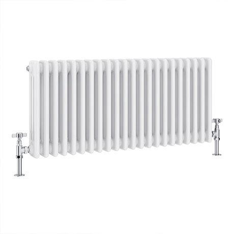 Keswick 450 x 1008mm Cast Iron Style Traditional 3 Column White Radiator