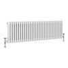 Keswick 450 x 1413mm Cast Iron Style Traditional 3 Column White Radiator profile small image view 1