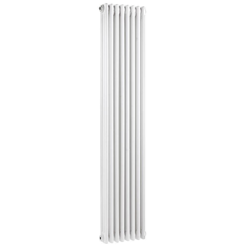Keswick Cast Iron Style Traditional 3 Column White Radiator (1800 x 376mm) Large Image