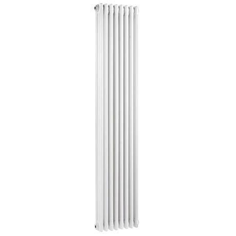 Keswick Cast Iron Style Traditional 3 Column White Radiator (1800 x 376mm)