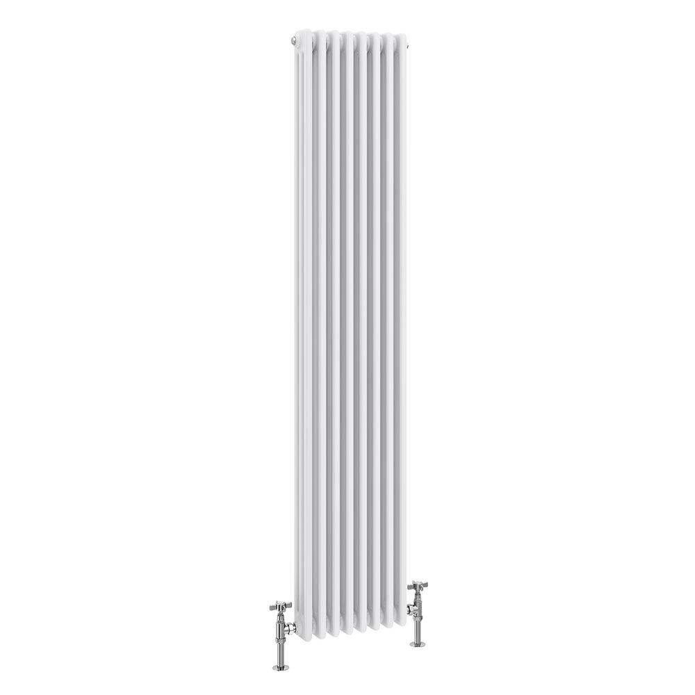 Keswick Cast Iron Style Traditional 3 Column White Radiator (1800 x 376mm) Large Image