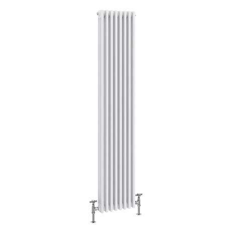 Keswick Cast Iron Style Traditional 3 Column White Radiator (1800 x 376mm)