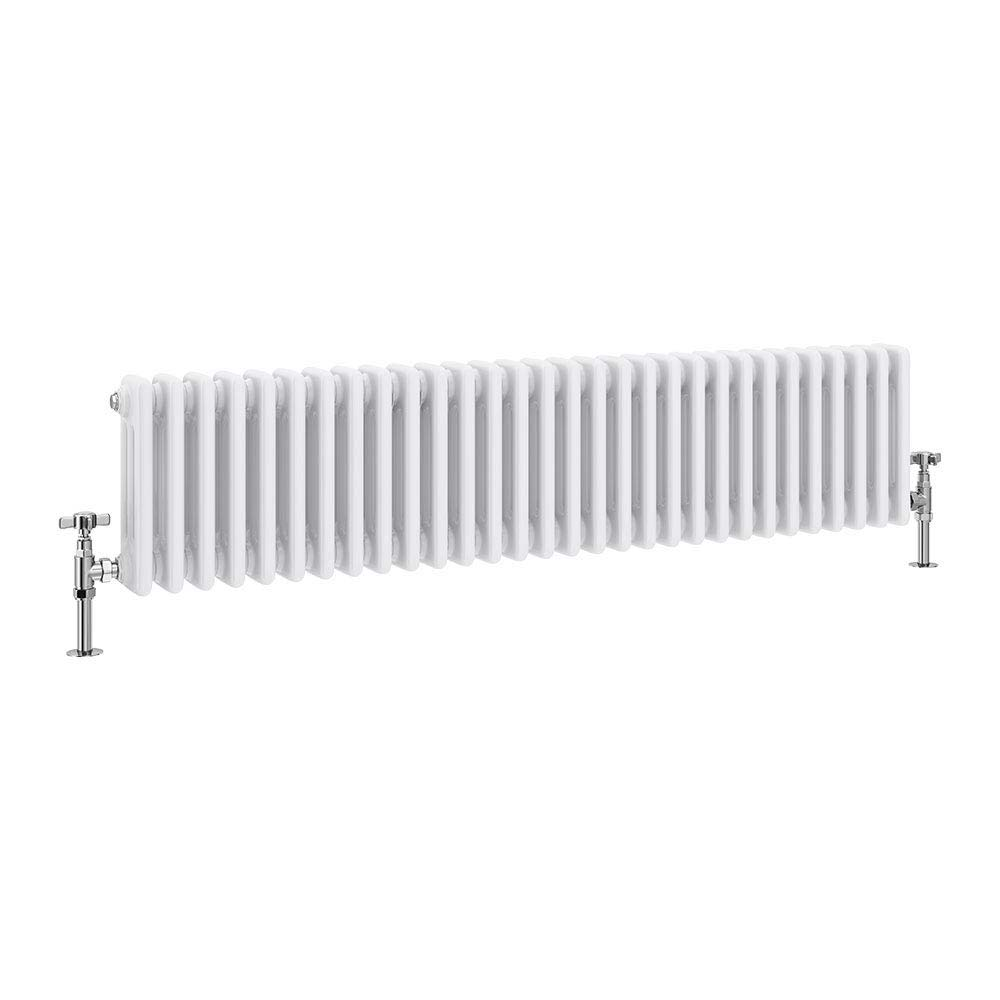 Keswick Cast Iron Style Traditional 3 Column White Radiator (300 x 1355mm) profile large image view 1