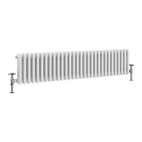 Keswick 300 x 1355mm Cast Iron Style Traditional 3 Column White Radiator