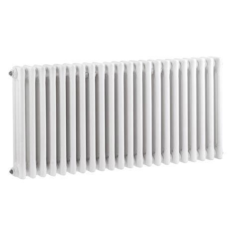 Keswick Cast Iron Style Traditional 3 Column White Radiator (600 x 1355mm)