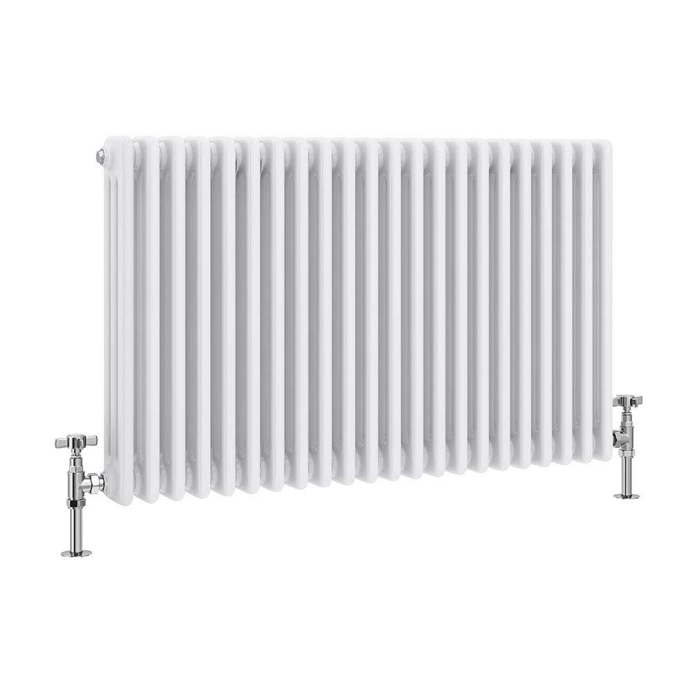 Keswick Cast Iron Style Traditional 3 Column White Radiator (600 x 999mm) profile large image view 1