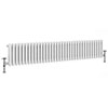 Keswick 300 x 1578mm Cast Iron Style Traditional 3 Column White Radiator profile small image view 1