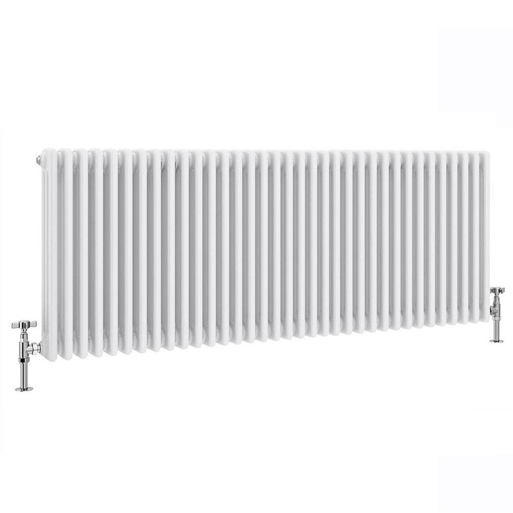 Keswick 600 x 1578mm Cast Iron Style Traditional 3 Column White Radiator