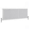 Keswick 600 x 1578mm Cast Iron Style Traditional 3 Column White Radiator profile small image view 1
