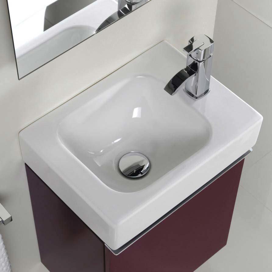 Twyford 3D 370mm Handrinse Vanity Unit with Basin - Plum  Profile Large Image