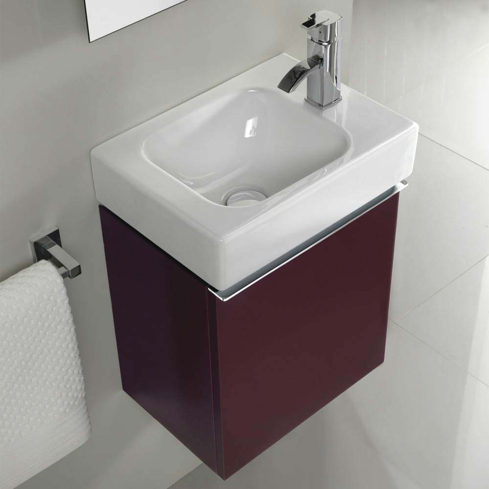 Twyford 3D 370mm Handrinse Vanity Unit with Basin - Plum  Feature Large Image