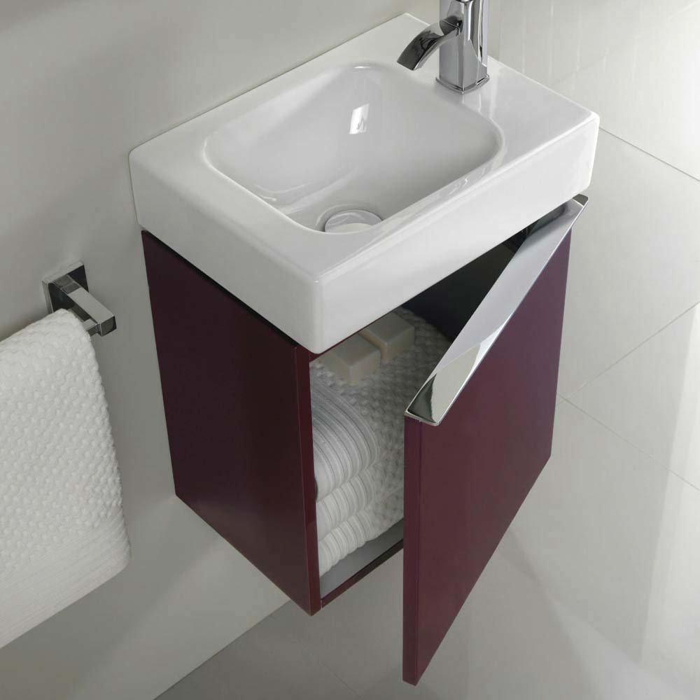 Twyford 3D 370mm Handrinse Vanity Unit with Basin - Plum  Standard Large Image